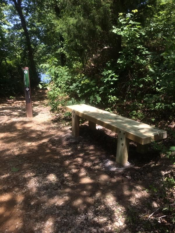 Bench on trail