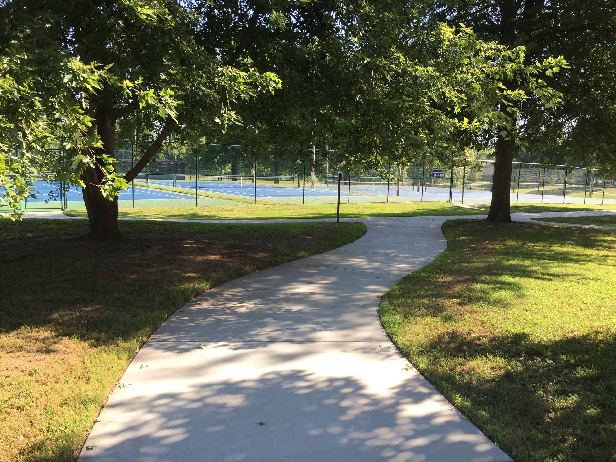 Walking Trail near Tennis Courts